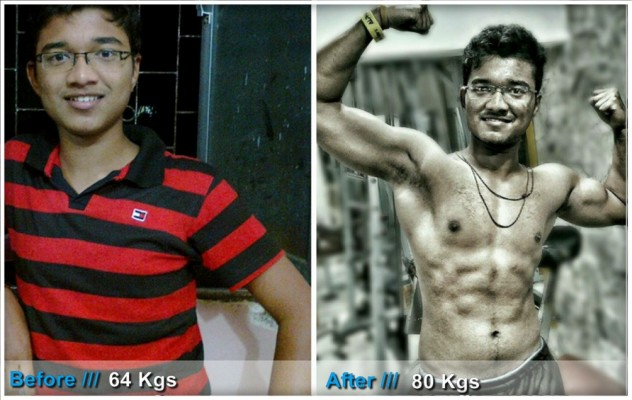 Weight & Muscle gain Transformation Story - Vivek M Sawant